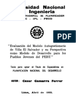 Evaluación Del Modelo Autogestionario de Villa El Salvador