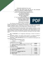 Proposed Ordinance 40-16 of Misamis Occidental