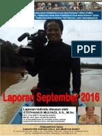 Monthly Individual Report P3MD - Stephanus Mulyadi - TA PSD Kapuas Hulu September 2016