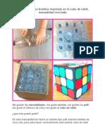 Asiento Puff Con Botellas Inspirado en El Cubo de Rubik