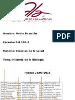 Historia de La Biologia-PabloPazmiño