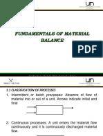 Fundamental of Matter Balances