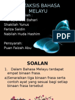 Sintaksis Bahasa Melayu
