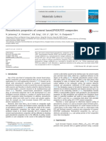 Piezoelectric Properties of Cement Based-PVDF-PZT Composites