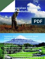 Pola Kegiatan Ekonomi Penduduk