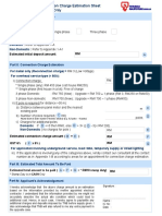 Connection Fee and Initial Deposit Estimation Sheet