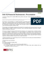 IAS 32 Financial Instruments- Presentation