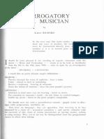Albert Richard Interrogatory of a Musician