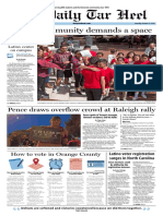 The Daily Tar Heel for Oct. 13, 2016