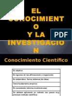 EL CONOCIMIENTO Y LA INVESTIGACIO+ôN CIENTIFICA
