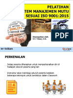 005 - ISO 9001 2015 One Day