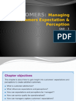 CUSTOMERS –Managing Customer Perceptions & Expectations