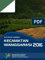 Statistik Daerah Kecamatan Wanggarasi 2016