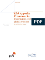 PwC - Risk Apetite Framework