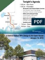 University District Station 90% Station Design