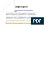 Cómo Aprender a Hablar Portugués