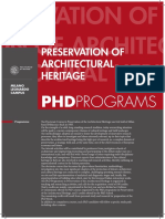 Preservation of Architectural Heritage 01