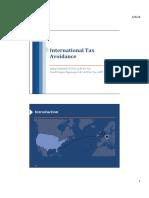 International Tax Avoidance