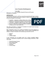 Foreign Currency Transaction Risk Management