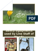 Safety Equipments used by line staff and wapda
