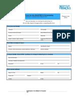 Application Form Master's Program 1 Page SOP