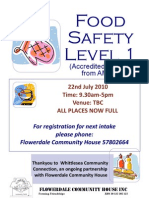 Food Safety Handlers Course