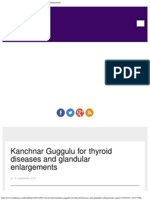 Kanchnar Guggulu for Thyroid Diseases and Glandular