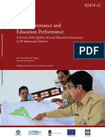 World Bank Local Governance and Education Performance Indonesia Investments