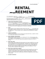 Rental Agreement Template 2