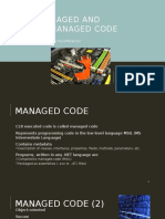 Managed and Unmanaged Code(1)
