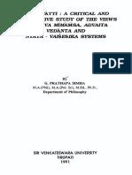 Purva Mimamsa Advaita and Vedanta and Nyaya