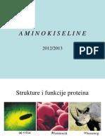 Opsta Biohemija Aminokiseline