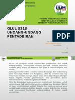 Semester Januari 2016 GLUL 3113 Pengenalan Kursus