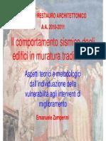 Miglioramento Sismico Degli Edifici in Muratura- E. Zamperini