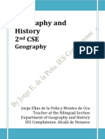 Geography and History 2nd CSE. Geography