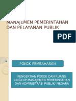 1. Pengertian Manajemen Dan Pelayanan Publik