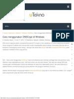 001Cara Menggunakan DNSCrypt Di Windows – UTekno