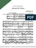 Beethoven Violin Concerto Et Piano