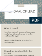Removal of Lead in Water
