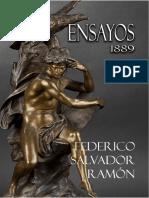 Ensayos de Federico Salvador Ramón. 1889.
