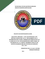 Selección Adecuada y Uso de Estrategias Con Enfoque Indagatorio en El Procesamiento de La Informa