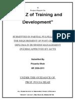 A to Z of Training and Development - Priyanka Shah