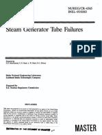 Steam Generator Tube Failures