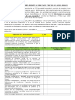 Encuesta Sobre El Cumplimiento de Objetivos y Metas Del Nivel Basico-1