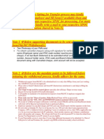 Mandate Process for PF and Pension Settlement