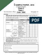 FIITJEE Oct 2016 Sample Paper