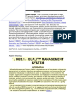 Quality Management System 10831