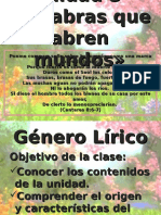 Ppt Genero Lirico