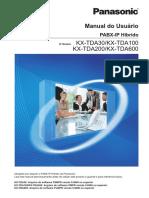 Manual Central Telefônica Panasonic KX-TDA30/KX-TDA100 KX-TDA200/KX-TDA600