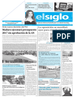 Edición Impresa El Siglo 13-10-2016